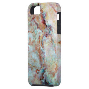 Pink rainbow marble stone finish iPhone SE/5/5s case
