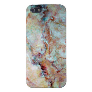 Pink rainbow marble stone finish iPhone SE/5/5s cover