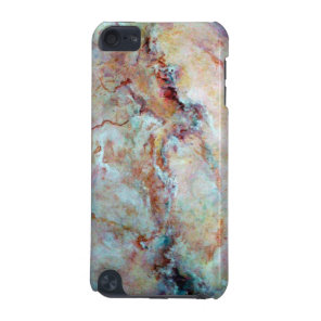 Pink rainbow marble stone finish iPod touch (5th generation) case