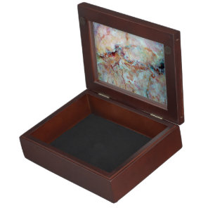 Pink rainbow marble stone finish memory box