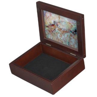 Pink rainbow marble stone finish memory box