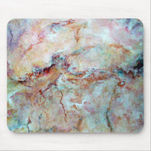 Pink rainbow marble stone finish mouse pad