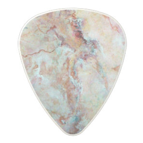 Pink rainbow marble stone finish polycarbonate guitar pick