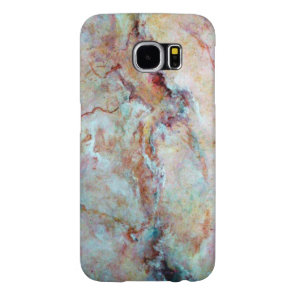 Pink rainbow marble stone finish samsung galaxy s6 case