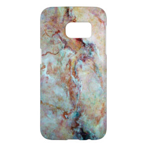 Pink rainbow marble stone finish samsung galaxy s7 case