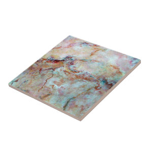 Pink rainbow marble stone finish tile