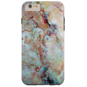 Pink rainbow marble stone finish tough iPhone 6 plus case
