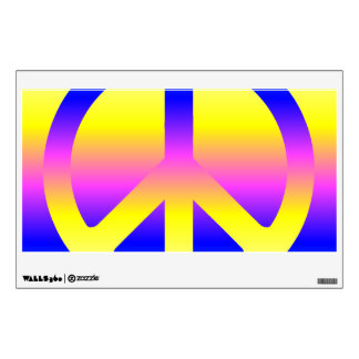 Pink Rainbow Peace Sign Room Decals