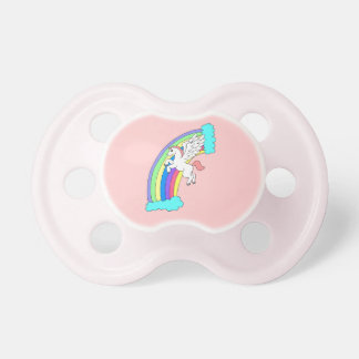 Pink Rainbow Pegasus Pacifier