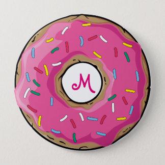 Pink Rainbow Sprinkle Donut Button