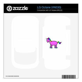 Pink rainbow unicorn decals for LG octane