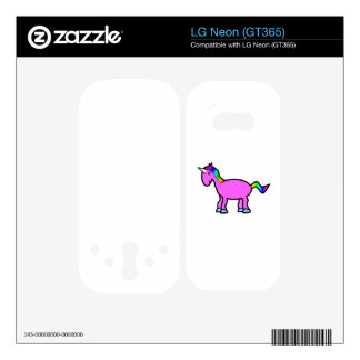 Pink rainbow unicorn LG neon decals