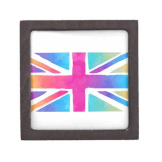 Pink Rainbow Watercolor British Flag Gift Box