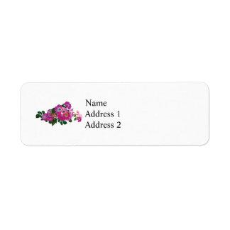 Pink Rambler Rose Return Address Label
