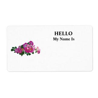 Pink Rambler Rose Shipping Label