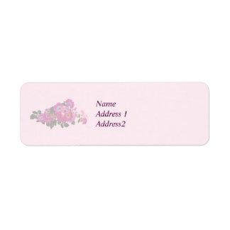 Pink Rambler Rose Save the Date Return Address Label