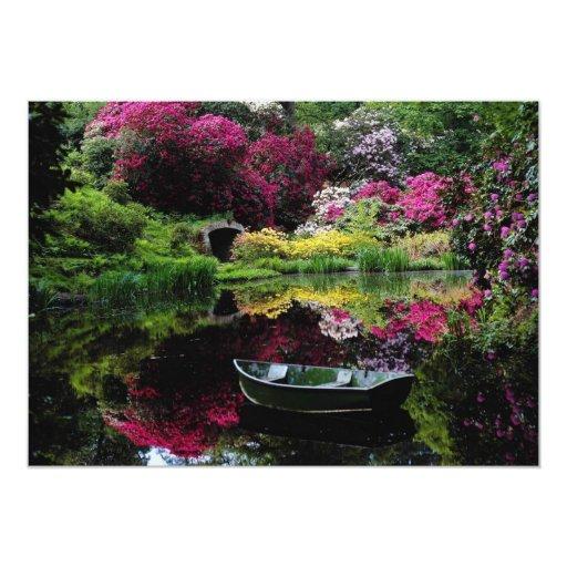 Pink Ramster gardens, Chiddingfold, Surrey, Englan Custom Invite