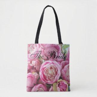 Pink Ranunculus Bride Tote Bag
