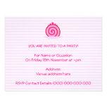 Pink Raspberry Cake. Personalized Invitations