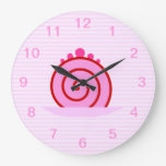 Pink Raspberry Cake. Wall Clocks