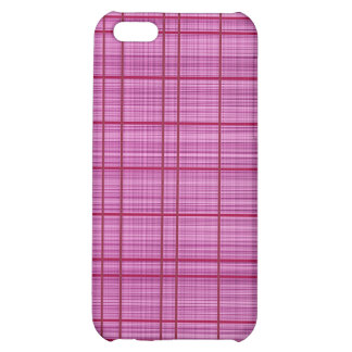 Pink/Raspberry Plaid Case Cover For iPhone 5C