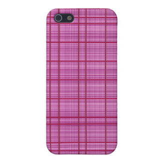 Pink/Raspberry Plaid Case iPhone 5 Covers