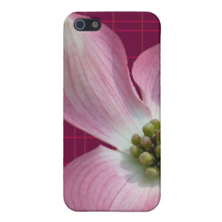 Pink/Raspberry Plaid Dogwood Case Covers For iPhone 5