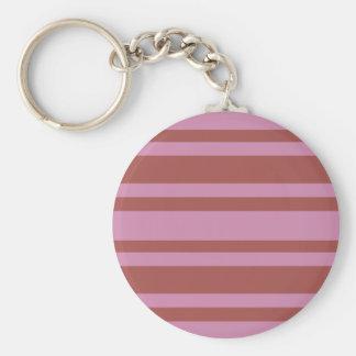 Pink / Raspberry Stripes custom key chain