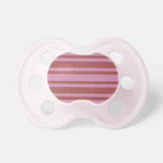 Pink / Raspberry Stripes custom pacifier