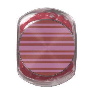 Pink / Raspberry Stripes jars & tins Glass Jars