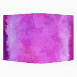 Pink Raspberry Watercolor Texture Pattern Vinyl Binders