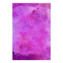 Pink Raspberry Watercolor Texture Pattern Poster