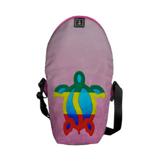 Pink Rasta Honu Messenger Bags