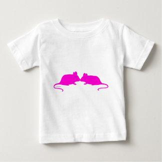 Pink ratón playera de bebé