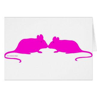 Pink ratón felicitación