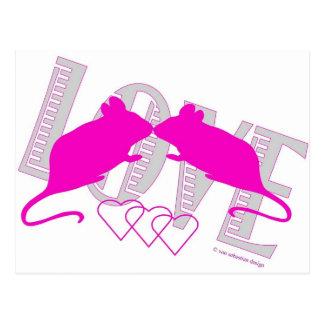 Pink ratón postal