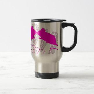 Pink ratón taza de viaje