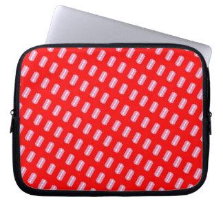 Pink Razor Print Laptop Sleeve