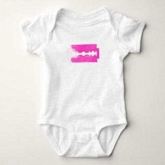 Pink Razorblade Baby Bodysuit