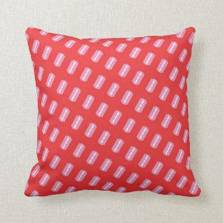 Pink Razors on Red Printed Plush Pillow