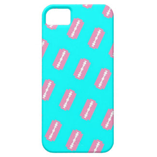 Pink Razors on Teal iPhone 5 Case
