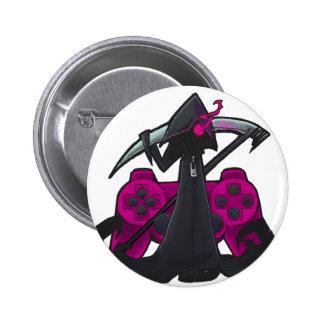 Pink Reaper Badge Pins