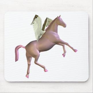 Pink Rearing Pegasus Mousepad