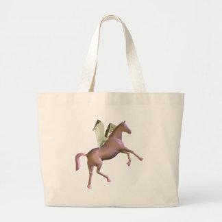 Pink Rearing Pegasus Tote Bag