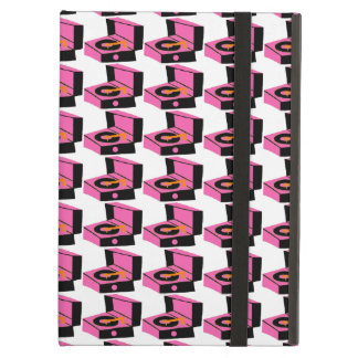 Pink Record Player Houndstooth iPad Case