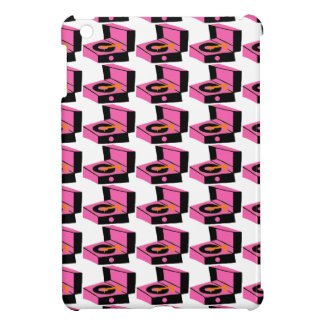 Pink Record Player Houndstooth iPad Mini Case