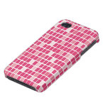 Pink Rectangle Mosaic iPhone 4/4S Cases
