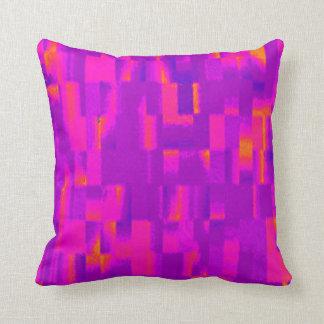 Pink rectangles, purple, red & orange pillow