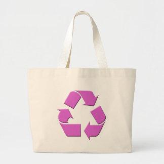 Pink Recycle Symbol Jumbo Tote Bag
