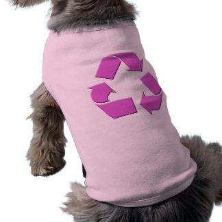 Pink Recycle Symbol Doggie Tshirt